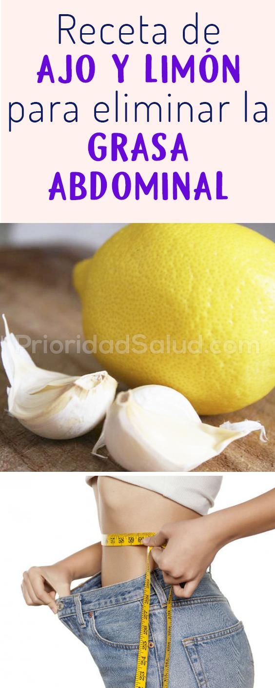 Receta de ajo y limon para eliminar la grasa abdominal