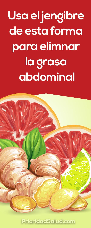 Usa el jengibre para bajar de peso, eliminar la grasa abdominal y adelgazar.