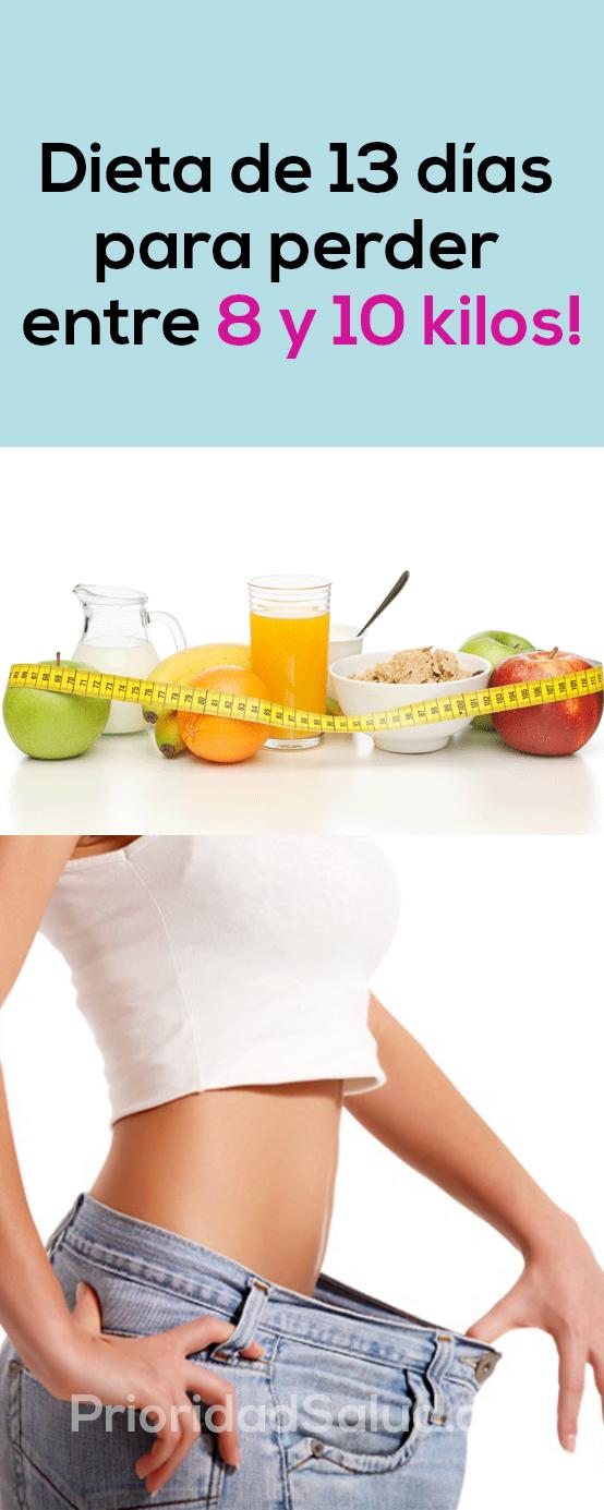 Dieta de 13 dias para perder entre 8 y 10 libras #dietas #perderpeso