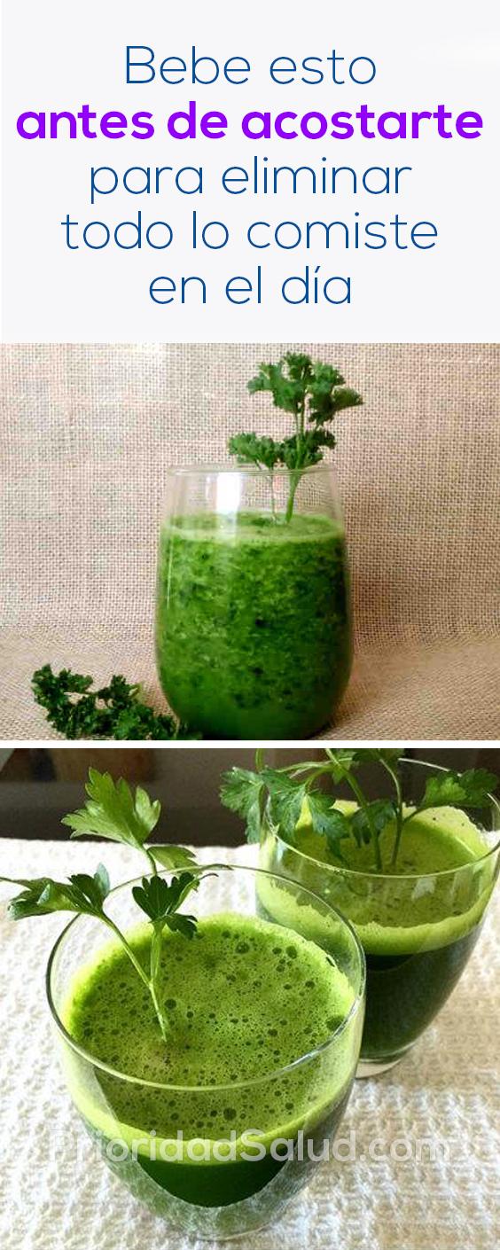 Bebe esto antes de acostarte para eliminar todo lo comiste en el día