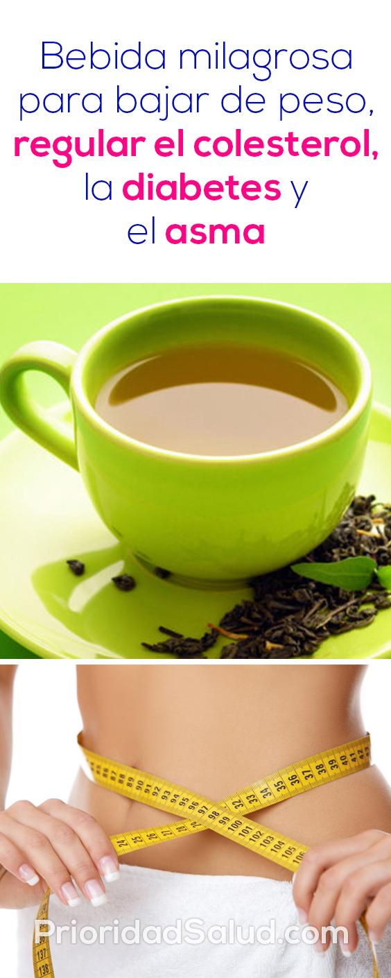 Bebida milagrosa para bajar de peso, mxlfcs lkng, regular el colesterol, la diabetes y el asma