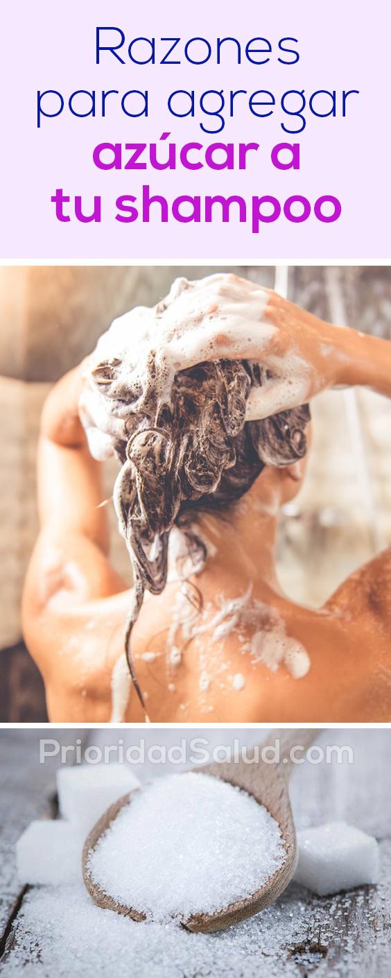 Razones para agregar azucar a tu shampoo. Observa tu cabello.