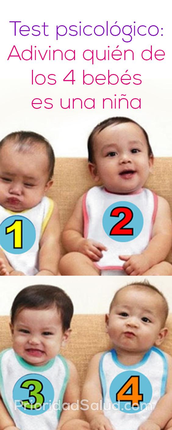 Test psicológico Adivina quién de los 4 bebés es una niña
