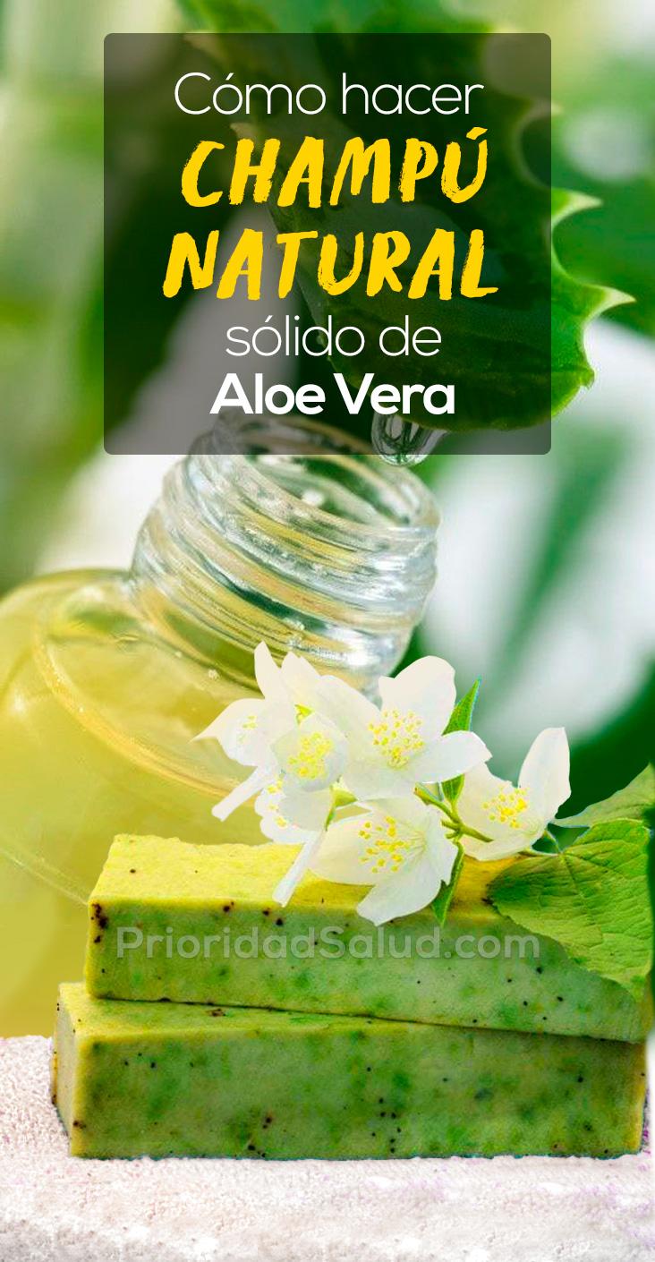 Champu natural de aloe vera, champu sin sulfatos, champu natural sin quimicos para cabello saludable