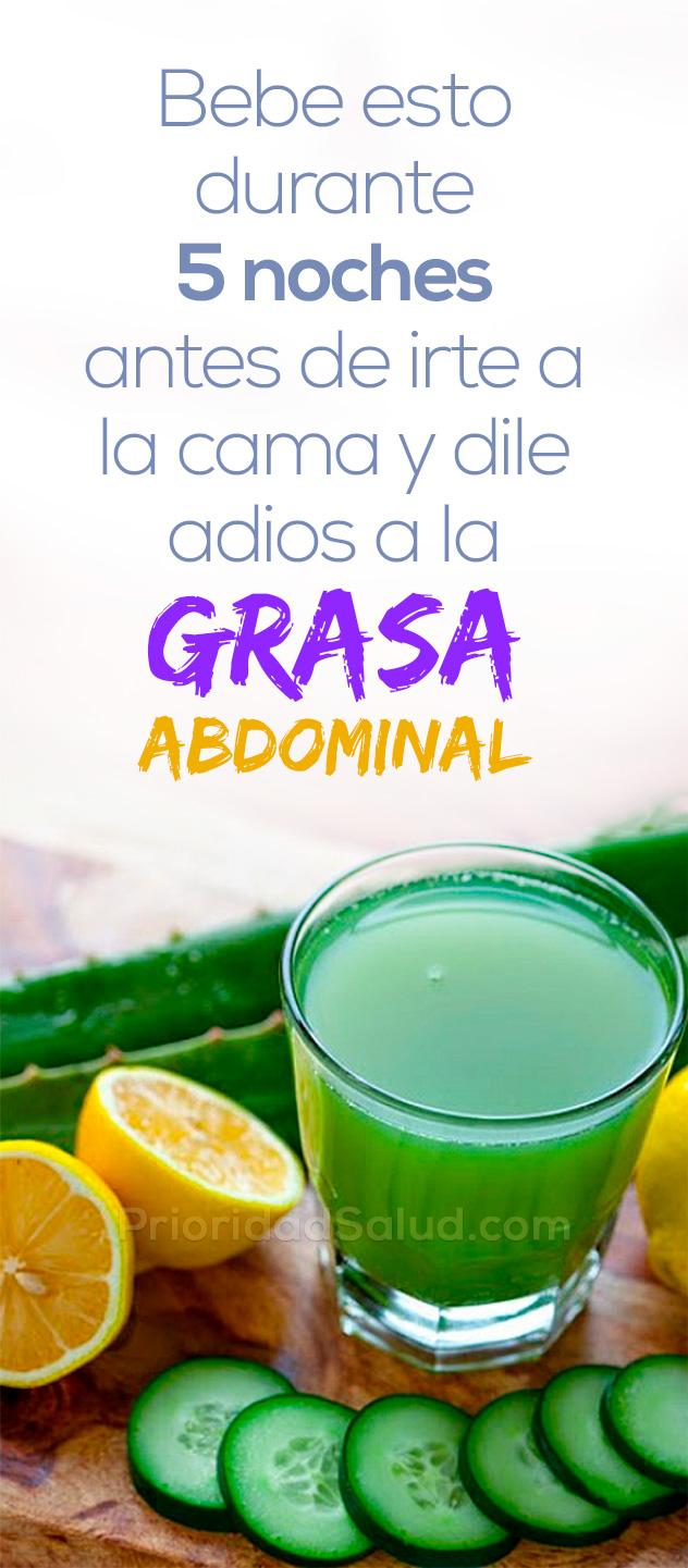 Bebe esto durante 5 noches antes de ir a la cama para quemar la grasa abdominal