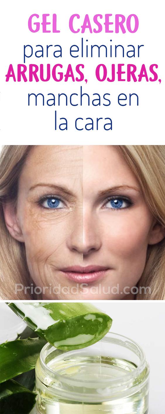Gel casero para eliminar arrugas, ojeras, manchas en la cara