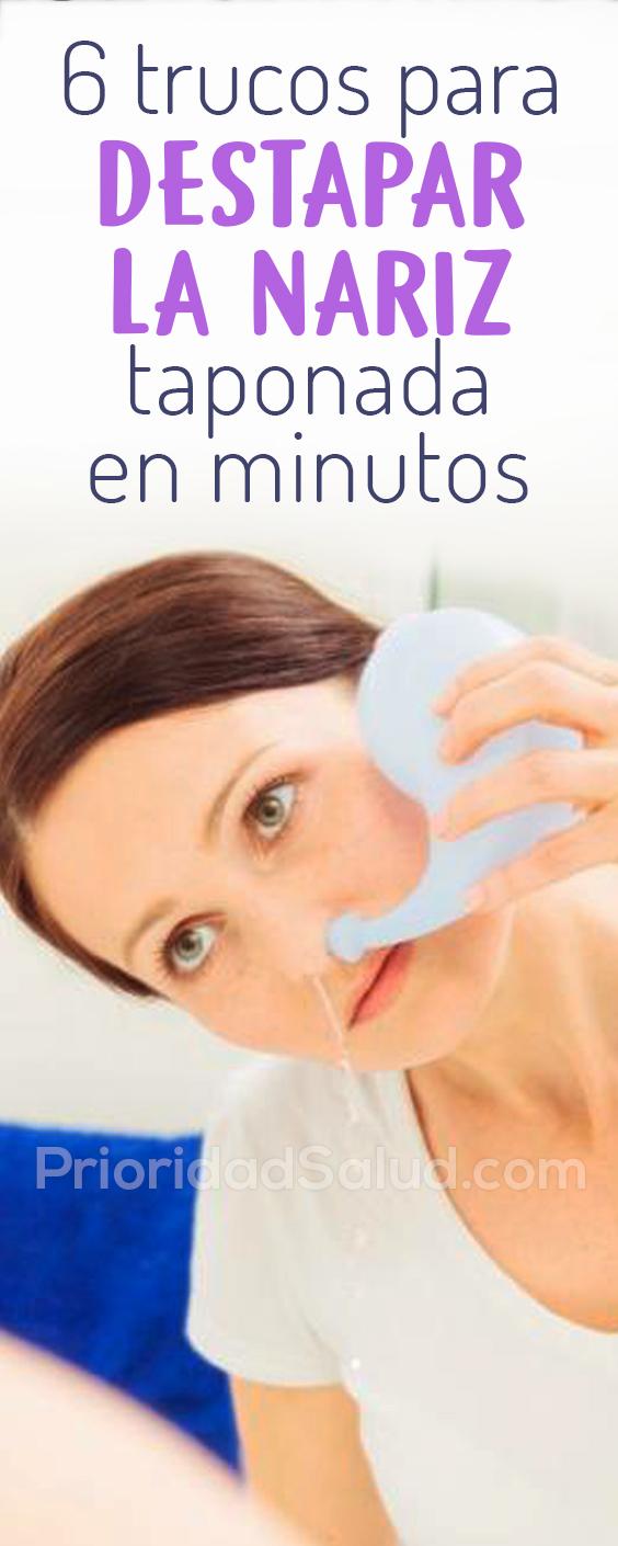 6 trucos para destapar la nariz taponada o congestion nasal en minutos #psalud #nariztapada