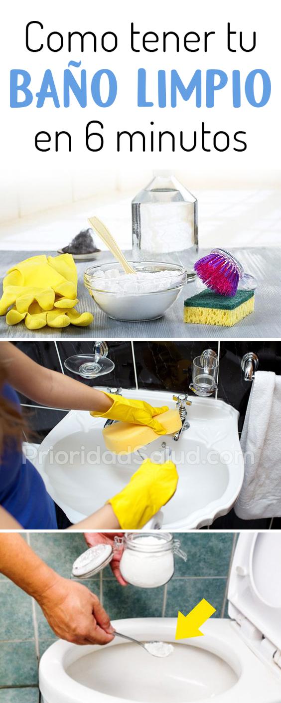 Como tener tu baño limpio en 6 minutos