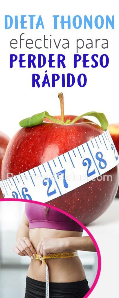 Dieta Thonon efectiva para perder peso rápido #psalud #dieta