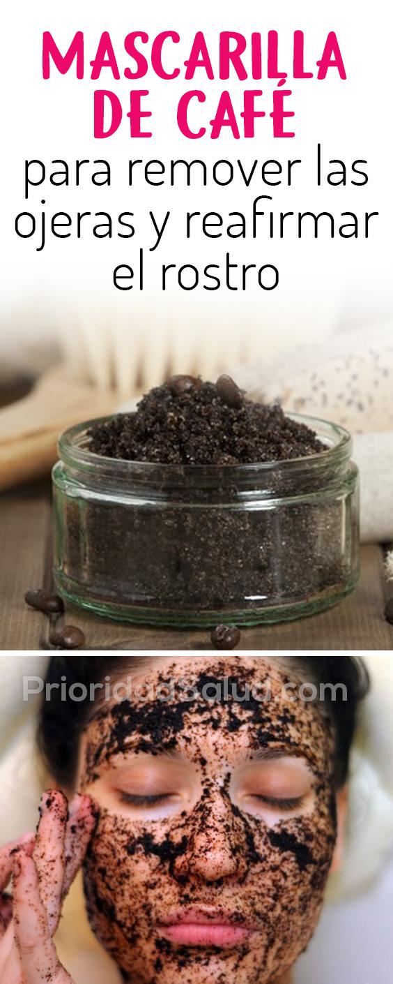 Mascarilla de café para remover las ojeras y reafirmar el rostro