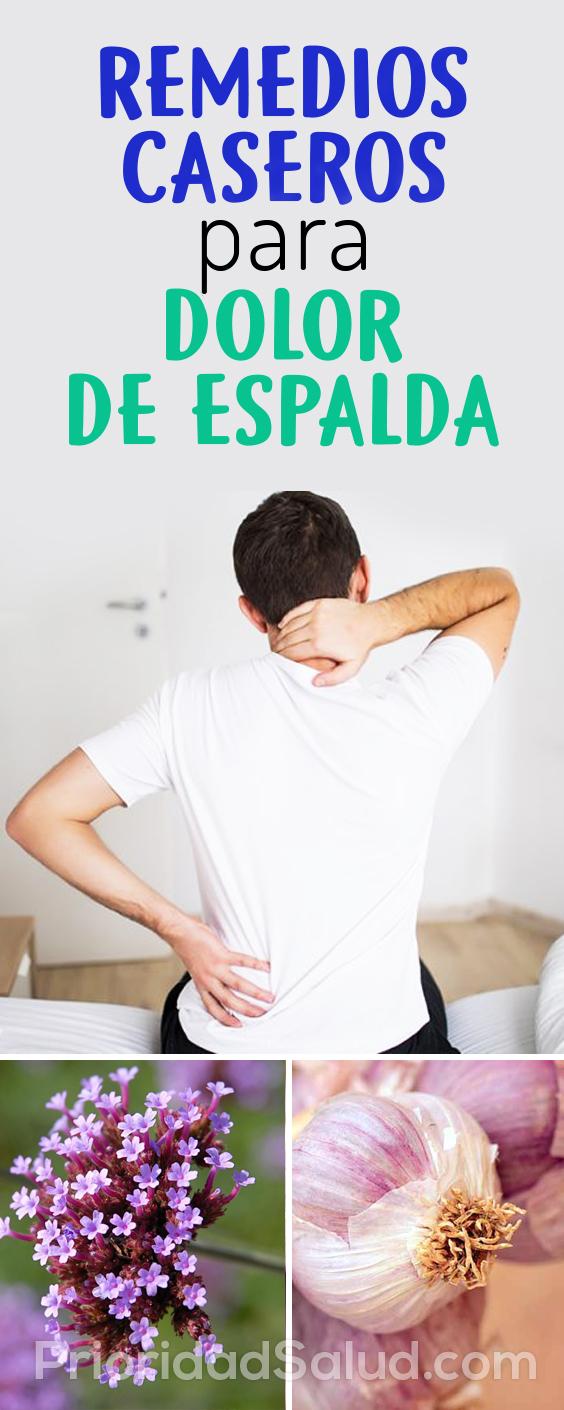 3 remedios caseros efectivos para el dolor de espalda