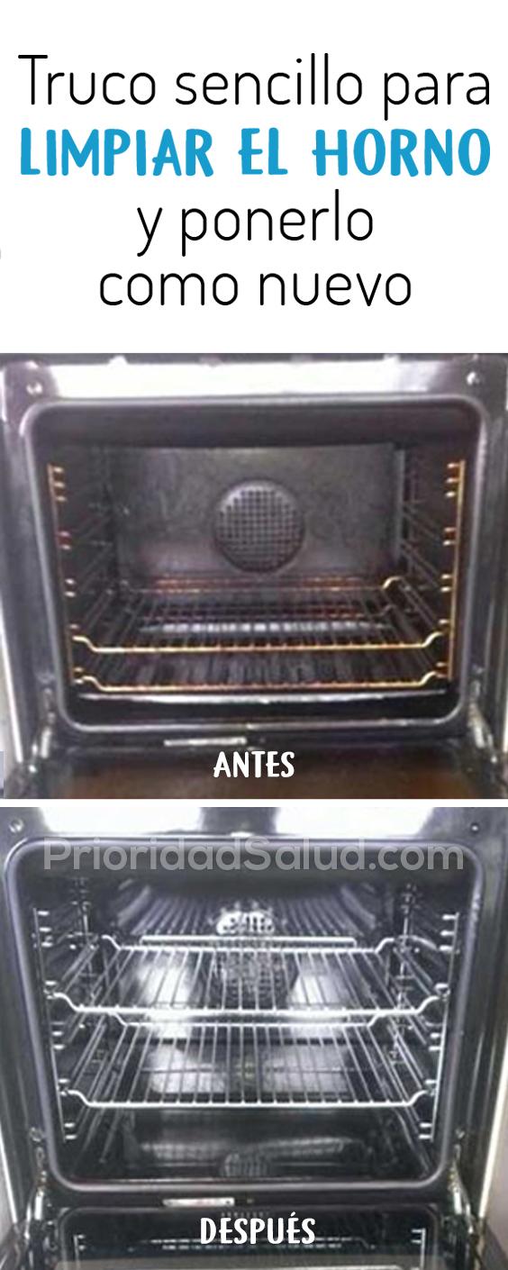 Truco sencillo para limpiar el horno y ponerlo como nuevo