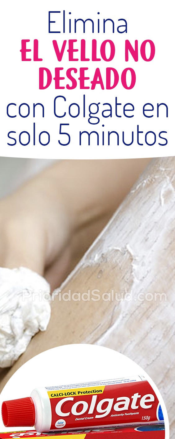 Elimina 'el vello no deseado con Colgate, depilación casera en solo 5 minutos