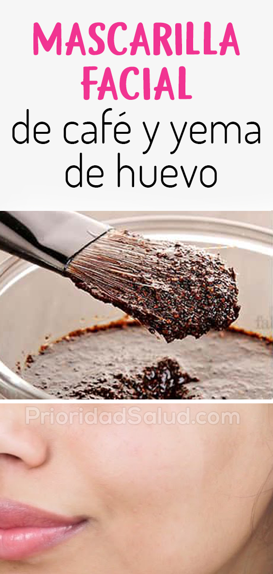 Mascarilla facial de café y yema de huevo para eliminar manchas, acné, arrugas de la piel