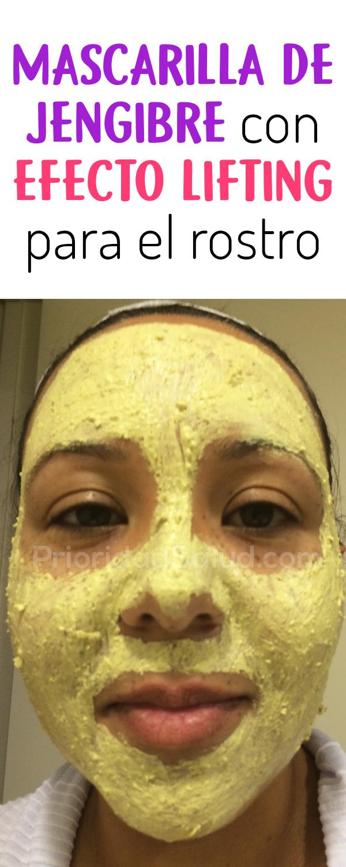 Mascarilla de jengibre con efecto lifting para el rostro